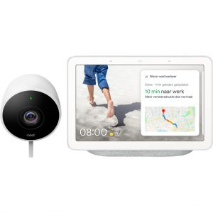 Google Nest Cam Outdoor + Google Nest Hub Chalk kopen?