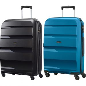 American Tourister Bon Air Spinner 75cm Black + 75cm Seaport kofferset kopen?