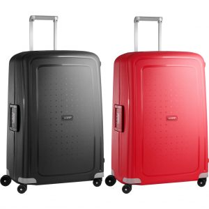 Samsonite S'Cure Spinner 75cm Black + 75cm Crimson Red kofferset kopen?