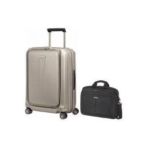 Samsonite Prodigy Spinner 55cm Ivory Gold + Samsonite GuardIT kopen?