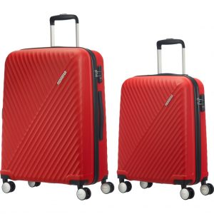 American Tourister Visby Spinner 55cm Red + 76cm Red kofferset kopen?