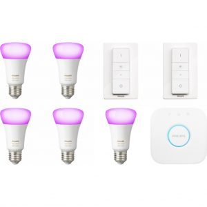 Philips Hue White & Colour Starter 5-Pack E27 + 2 dimmers kopen?