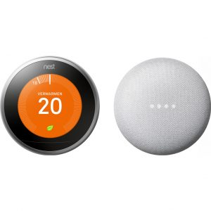 Nest Learning Thermostat V3 + Google Nest Mini Wit kopen?