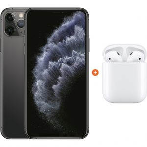 Apple iPhone 11 Pro Max 64 GB Space Gray + Apple AirPods 2 met oplaadcase kopen?