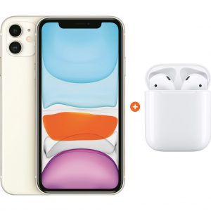 Apple iPhone 11 128 GB Wit + Apple AirPods 2 met oplaadcase kopen?