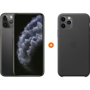 Apple iPhone 11 Pro 256 GB Space Gray + Apple iPhone 11 Pro Leather Back Cover Zwart kopen?