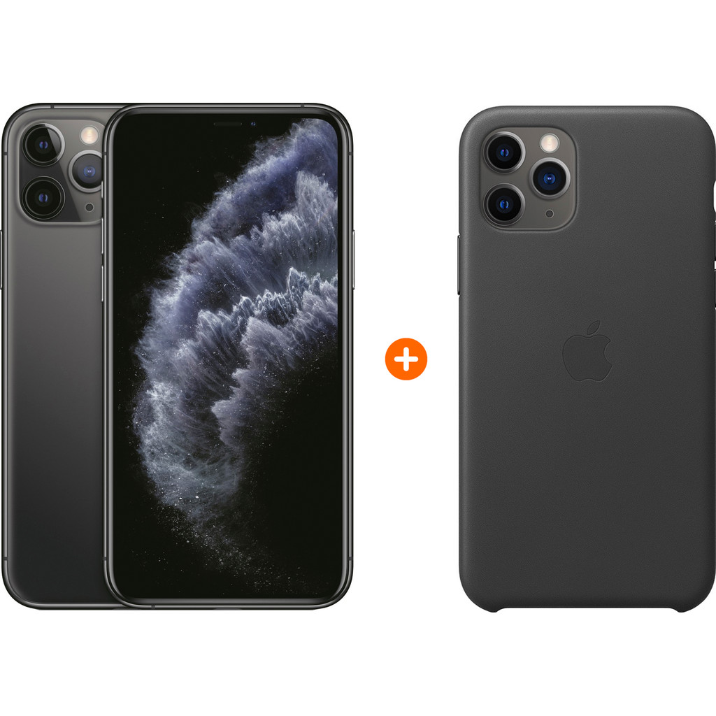 Apple iPhone 11 Pro 64 GB Space Gray + Apple Leather Back Cover kopen?