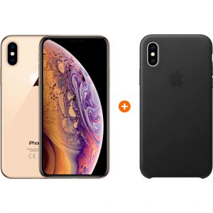 Apple iPhone Xs 512 GB Goud + Leather Back Cover kopen?