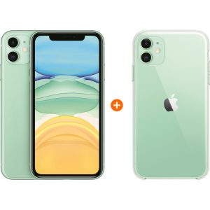 Apple iPhone 11 128 GB Groen + Apple iPhone 11 Clear Case kopen?