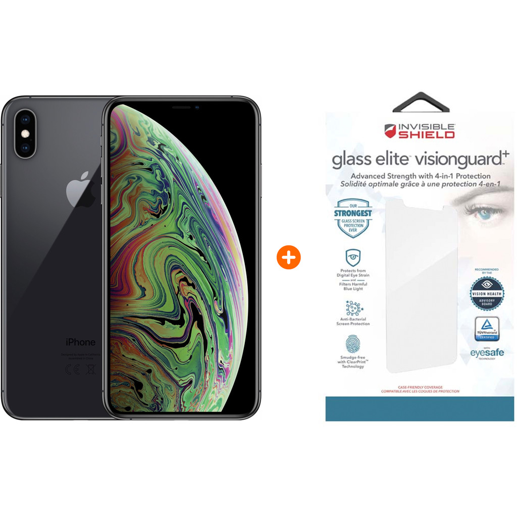 Apple iPhone Xs Max 64 GB Space Gray + InvisibleShield Glass kopen?